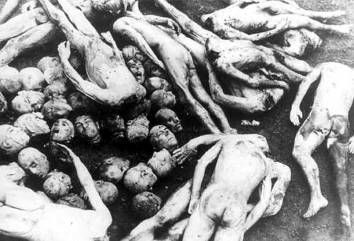 Dead bodies. It is said that Nazis were making soap from human's remains.