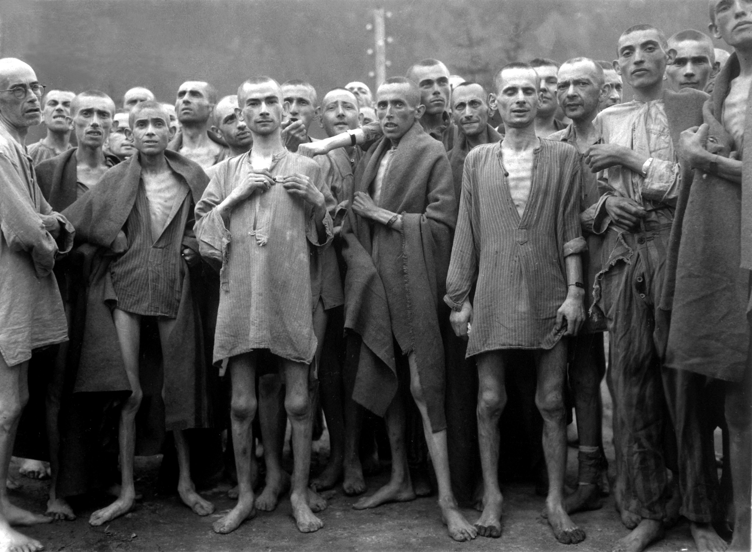 Starved prisoners in Mauthaund